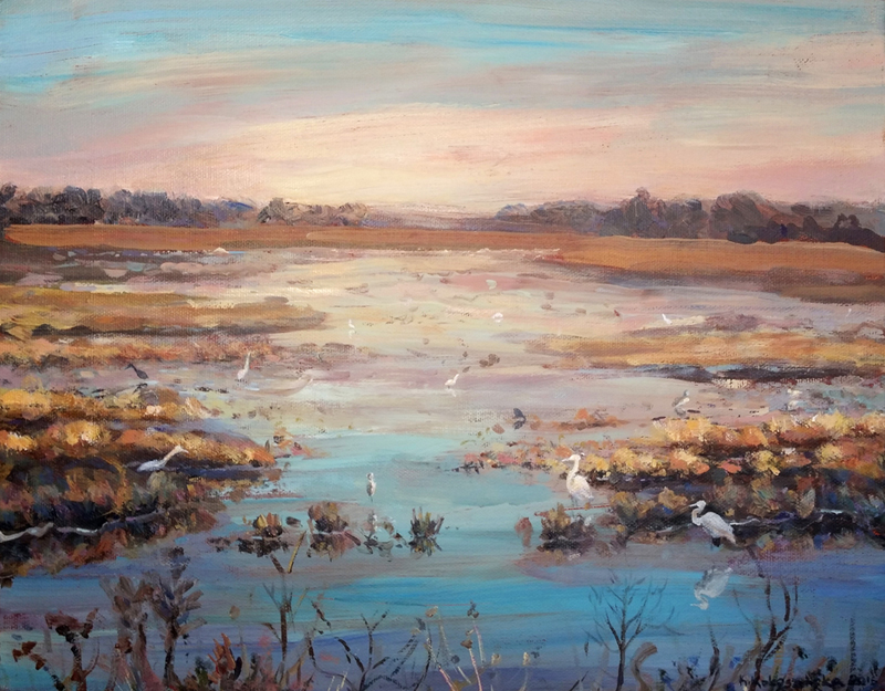 marshes-crane-painting