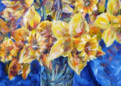 """Daffodils"" - acrylic on canvas by Kamila Kokoszynska"