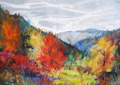 """Fall Galore"" - dry pastel on paper by Kamila Kokoszynska"