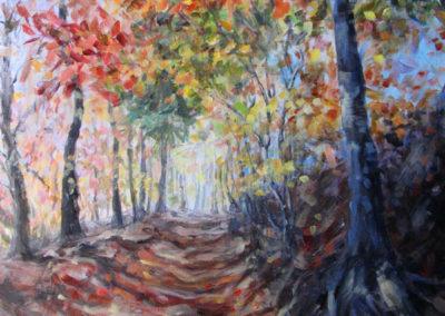 """""""Fall Path"""" - acrylic on canvas by Kamila Kokoszynska"""
