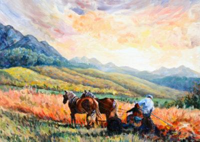 """Golden Fields"" - acrylic on canvas by Kamila Kokoszynska"
