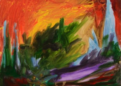 """Waiting for Winter"" - acrylic on canvas by Kamila Kokoszynska"
