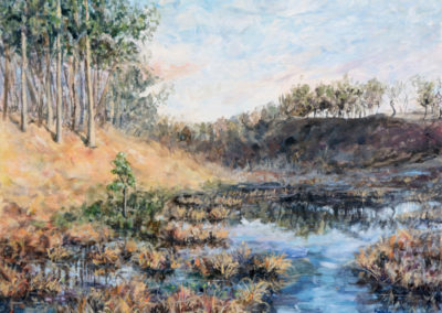 """Quiet Marshes"" - acrylic on canvas by Kamila Kokoszynska"
