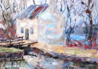 """Old Potomac School"" - acrylic on canvas by Kamila Kokoszynska"