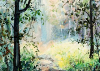 """Summer Path"" - acrylic on canvas by Kamila Kokoszynska"