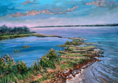 """""""Sunrise at the Bay"""" - acrylic on canvas by Kamila Kokoszynska"""