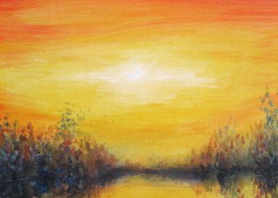 """'Reflection"""" - acrylic on canvas by Kamila Kokoszynska"""
