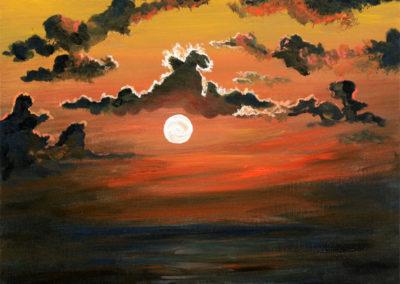 """""""Into the Horizon"""" - acrylic on canvas by Kamila Kokoszynska"""