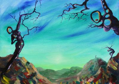 """Fields of Mind"" - acrylic painting on canvas by Kamila Kokoszynska"