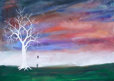 """Childhood I"" - acrylic painting on canvas by Kamila Kokoszynska"