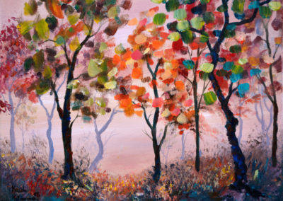 """Hidden Joy"" - acrylic on canvas by Kamila Kokoszynska"