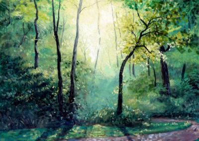 """Light III"" - acrylic on canvas by Kamila Kokoszynska"