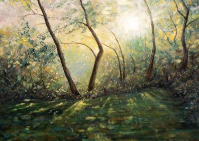 """""""Light IV"""" - acrylic painting on canvas by Kamila Kokoszynska"""