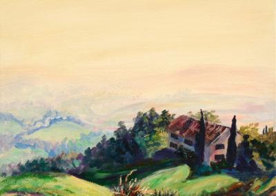 """""""Tuscany Sunrise"""" - acrylic on canvas by Kamila Kokoszynska"""