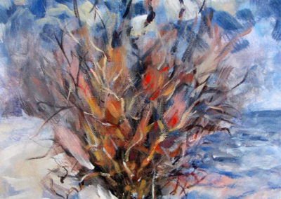 """Burning Bush"" - acrylic on canvas by Kamila Kokoszynska"